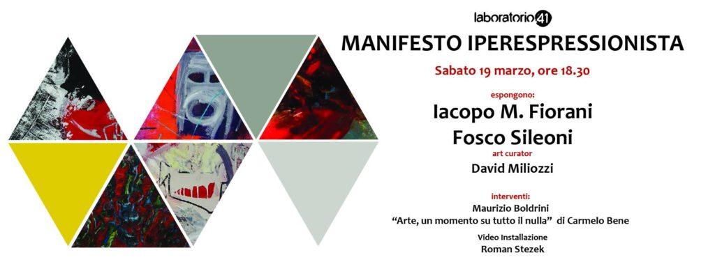 Manifesto Iperespressionista - Laboratorio 41 - Macerata
