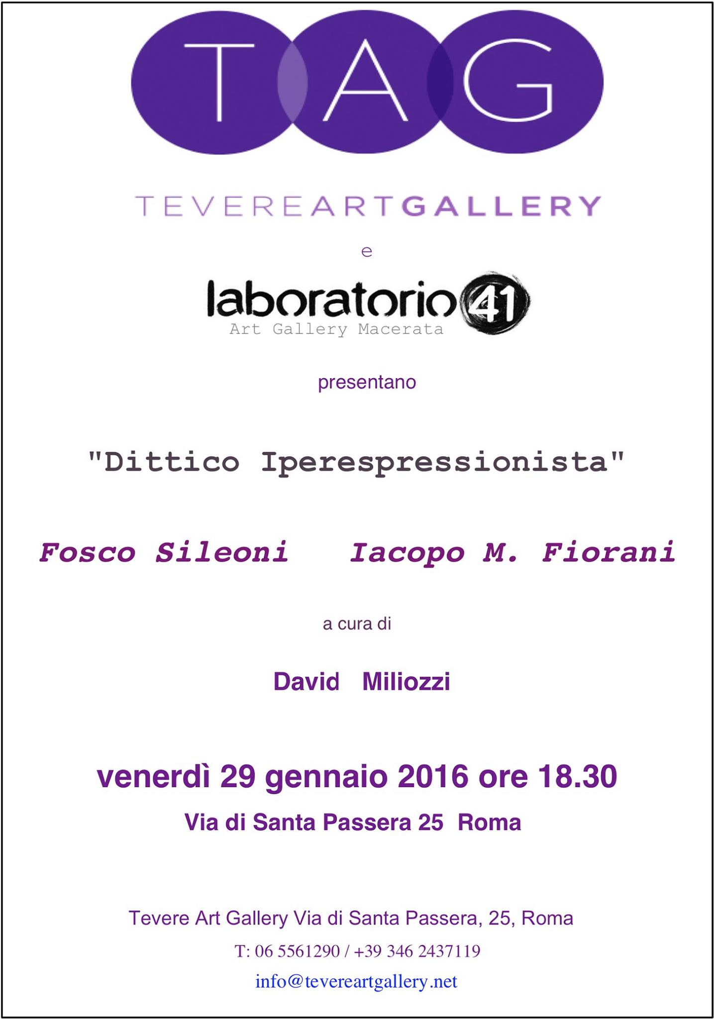 Dittico Iperespressionista - Tevere Art Gallery - Roma