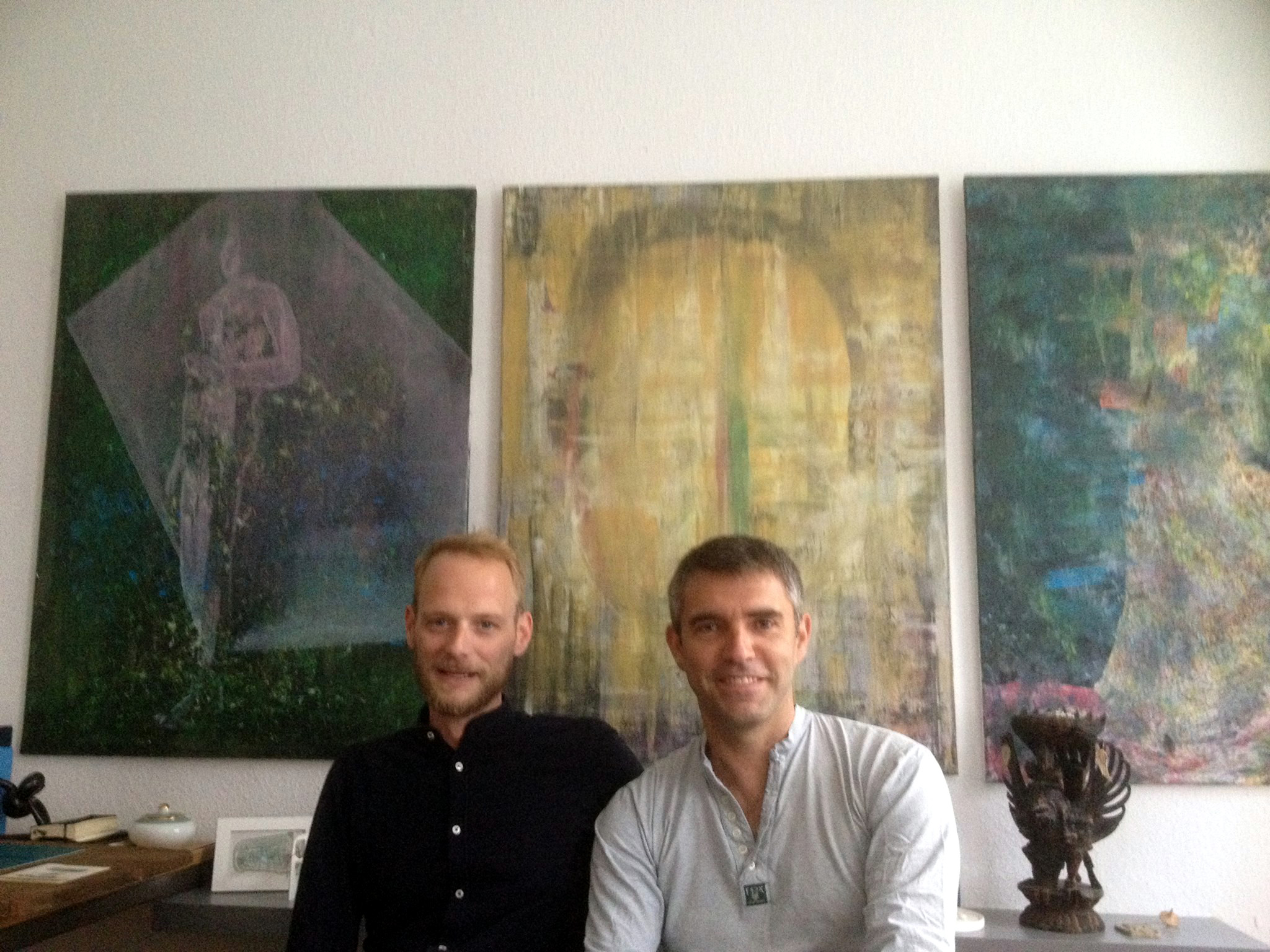 Hyperexpressionism at Retramp Galerie - Art critic David Miliozzi with artist Daniel Nagengast
