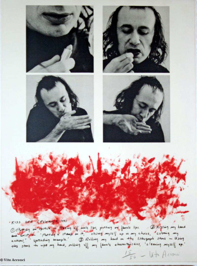 Vito Acconci - Kiss-off , 1971